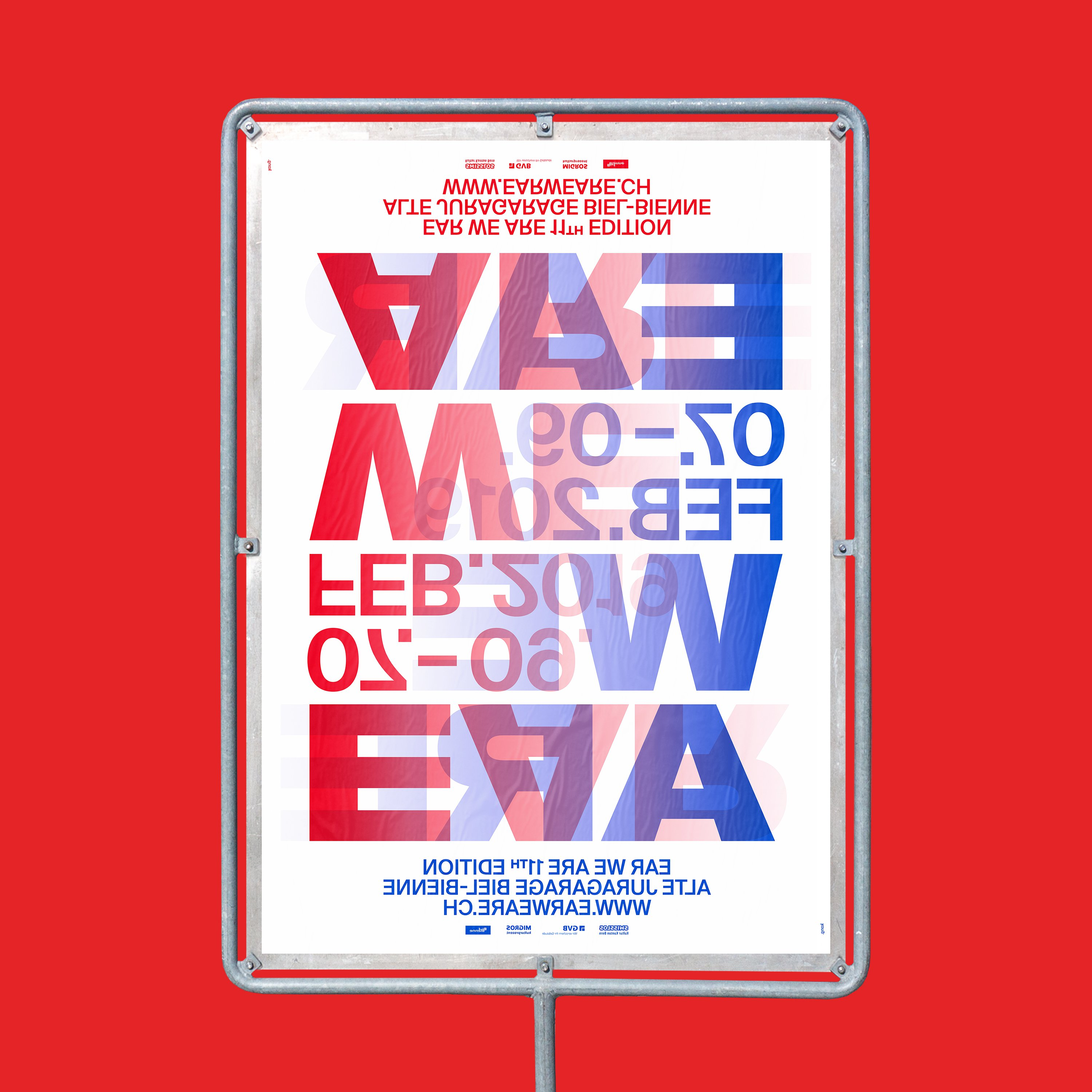 kong grafik ear-we-are plakat biel 2019